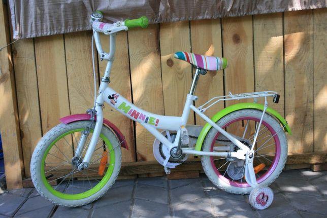 Очень классный фирменный велосипед Дисней Минни Маус 16дюймов