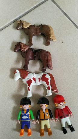 Playmobil konie i dżokejki
