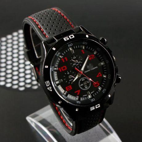 Мужские креативные гоночные кварцевые часы, силиконовые