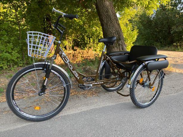 Трехколесный велосипед 3Колеса Дабл Хеппи трицикл пассажирский