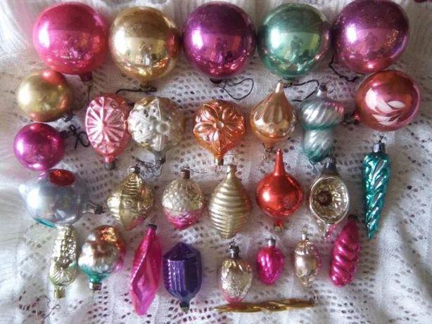 Дід Мороз Дед Снегурочка Елочка литая игрушка новогодние шарик шишка