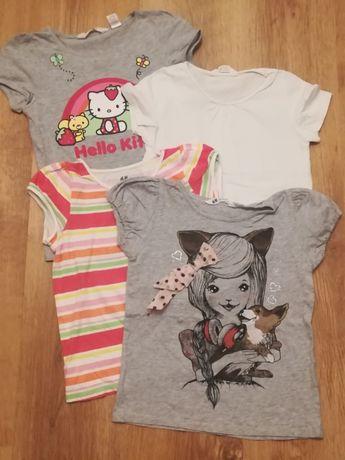 H&M bluzeczka koszulka T-shirt komplet r.122-128