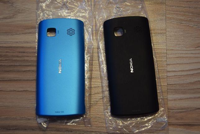Obudowa Nokia 500- Tył 2 kolory (Czarny i niebieski)