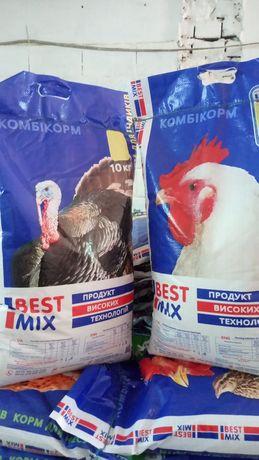 Комбікорм повнораціональний для кролів, свиней та всіх видів птиці