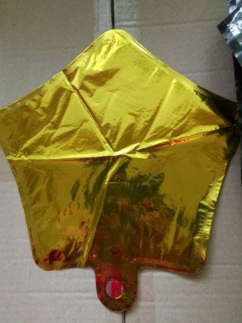 Звезды фольгированные 25 см шарики воздушные звездочки шары надувные