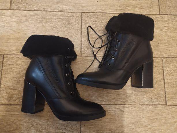 Кожаные ботинки, 36 размер