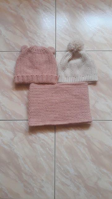 Zestaw zimowy komin czapki Zara 98/104
