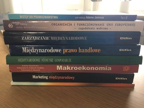 Książki cena za zestaw, ekonomia, marketing, zarządzanie