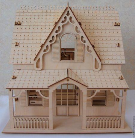 Кукольный дом с мебелью не большой