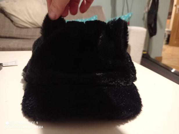 Czarna czapka kotek 6-8 jak nowa H&M