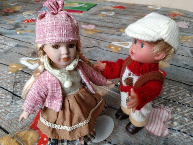 Кукла на подставке девочка и мальчик
