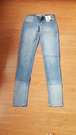 Nowe Jasne Niebieskie Spodnie Jeansy rozmiar S