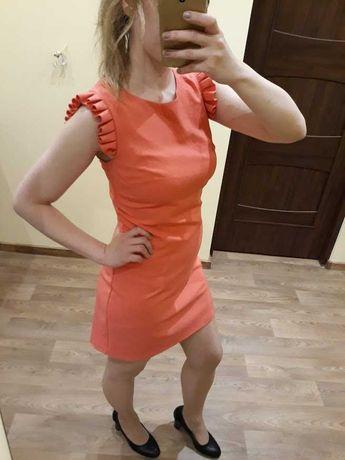 Sukienka na komunię, chrzciny, wesele Pretty Girl koralowa XS
