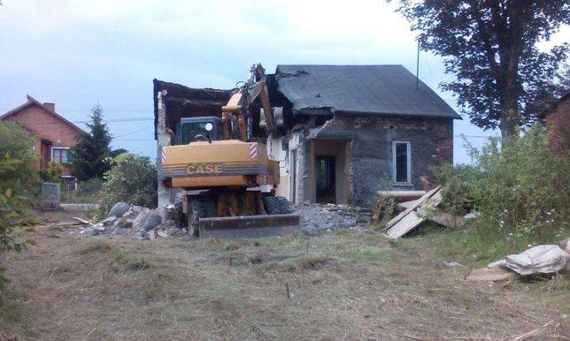 WYBURZENIA rozbiórki budynków demontaże zelów łask pajęczno kleszczów