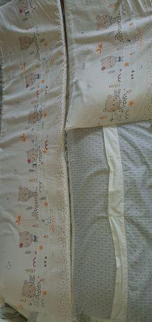 Защитные бортикики в кроватку /Постельный комплект Mioobaby