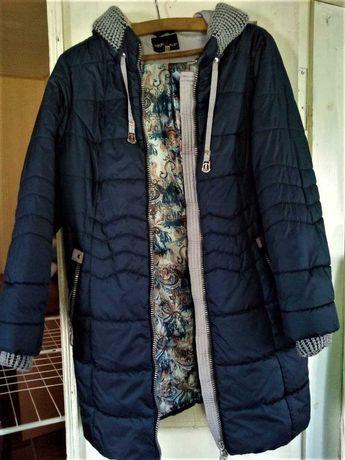 пальто -куртка зимняя синяя