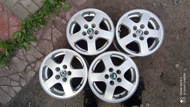 Бу диски литые r14 5*100 оригиналы Skoda Fabia Volkswagen Polo Golf