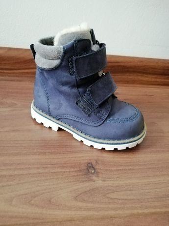 Skórzane buty zimowe rozm. 21
