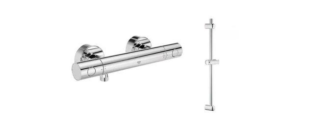 Grohe Grohtherm 1000 termostat prysznicowy + drązek Euphoria 900 mm