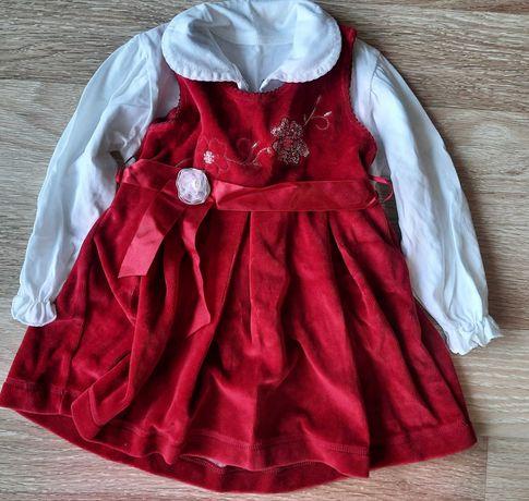 Sukienka dla dziewczynki 80 - 86 -3 sztuki - chrzest