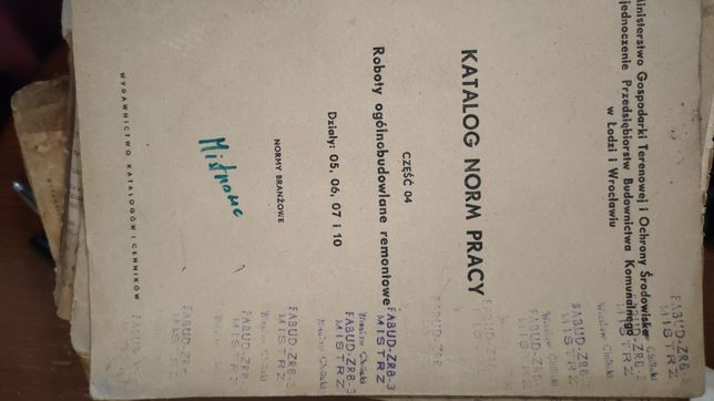 Sprzedam katalogi norm pracy z 1964r