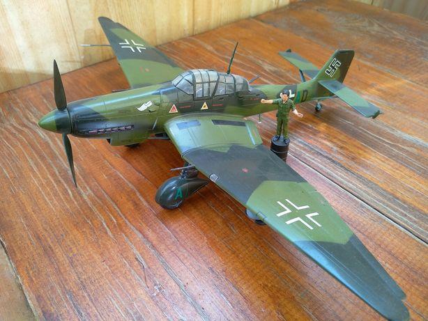 """Модель самолета масштабная1:48 Юнкерс 87"""" штука"""""""
