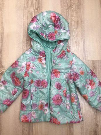 Kurteczka Smyk jak H&M 80/86 kwiaty leciutka wiosenna kolorowa