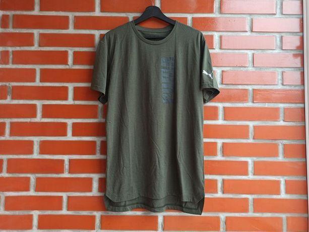 Puma мужская футболка цвета хаки размер M