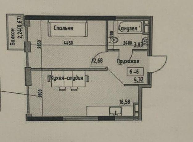 Продам 1-комнатную квартиру. 38 м2. Черемушки. ЖК на Радостной.