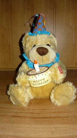 Miś śpiewający Happy Birthday - sto lat misio niedźwiedź zabawka