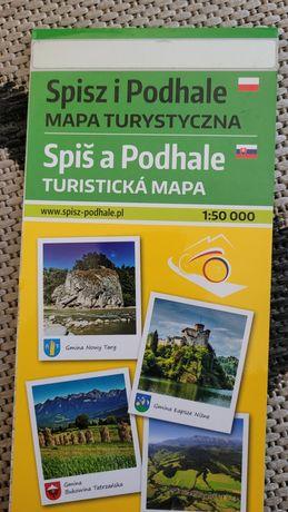 Mapa Spisz i Podhale
