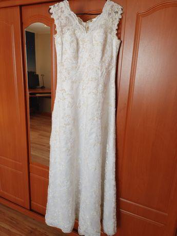 Suknia ślubna 36-38 z gorsetem