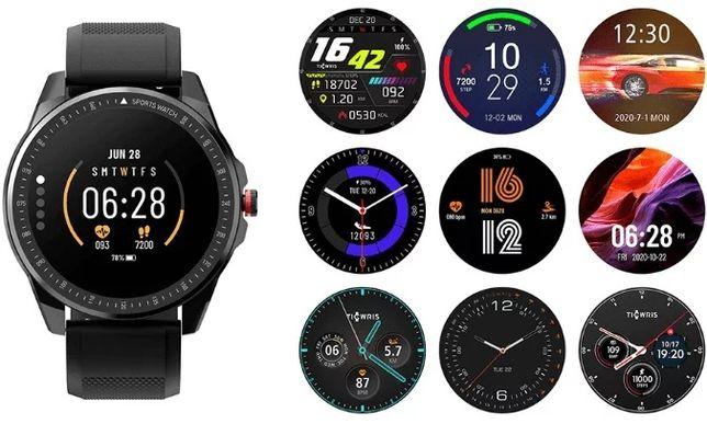 NOWY smartwatch Ticwris RS - dwa paski w zestawie. Trzyma do 50 dni!!!