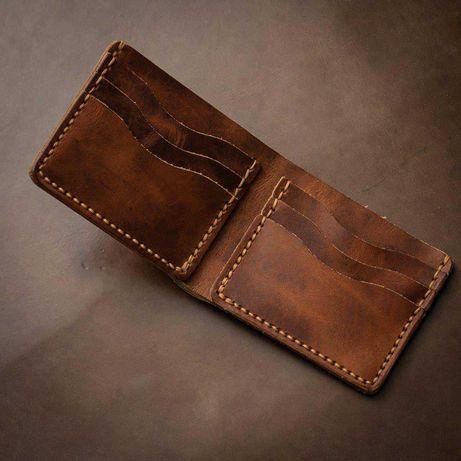 Мужской кошелек портмоне кожа ручная работа