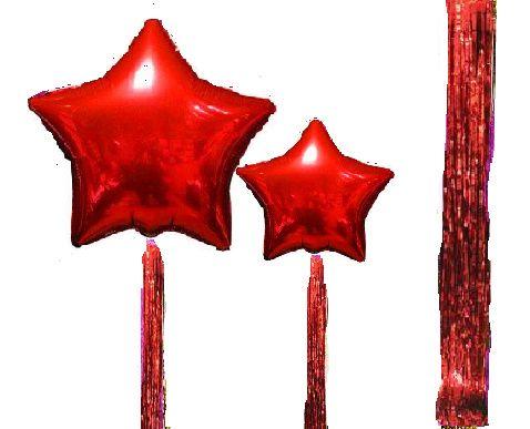Фольгированные шары звезды (баблс, шарики, фотозона, цифра)