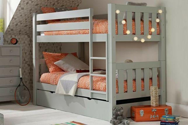 Двухъярусная деревянная кроватка кровать 2-х ярусная из ольхи ліжко