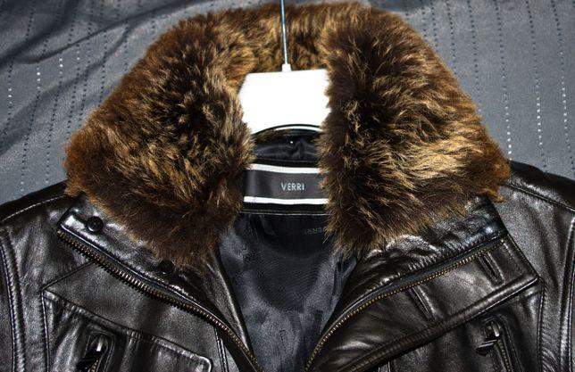 Кожаное полупальто куртка Verri 46-48