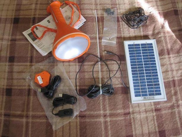 Портативная солнечная панель с фонарем-лампой Phocos Pico Lamp Kit