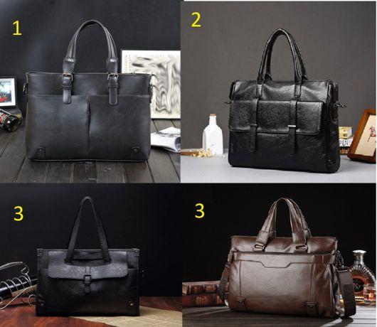 Мужской кожаный шкіряний черный коричневый портфель мужская сумка