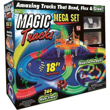 ОРИГИНАЛ Magic Tracks 360 деталей гибкая гоночная трасса автотрек