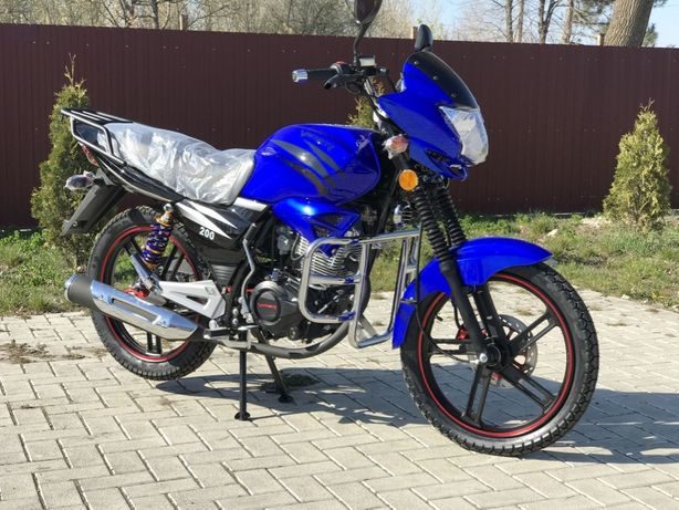 Мопед Мотоцикл Скутер Вайпер Viper ZS200/V200A Баланс СИНИЙ НАЛОЖКА!