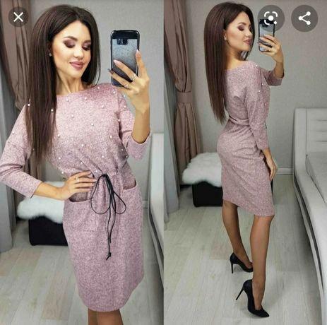Женское ангоровое платье