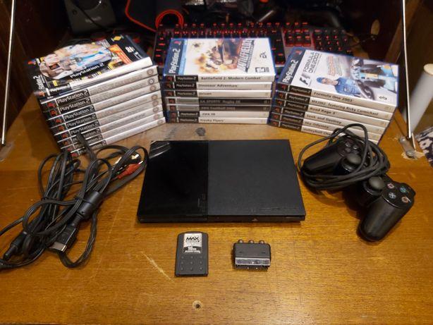 Playstation 2 Slim / Ps2 + 11 Jogos + 9 Demos + Cartão de Memória 16MB