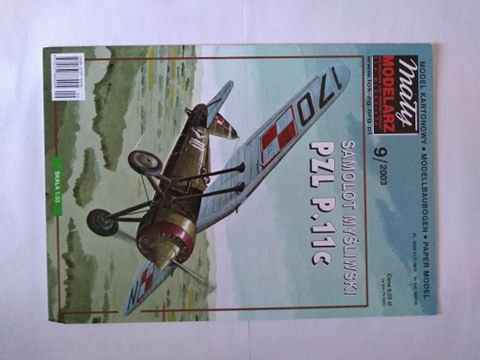 Model kartonowy Pzl p.11c