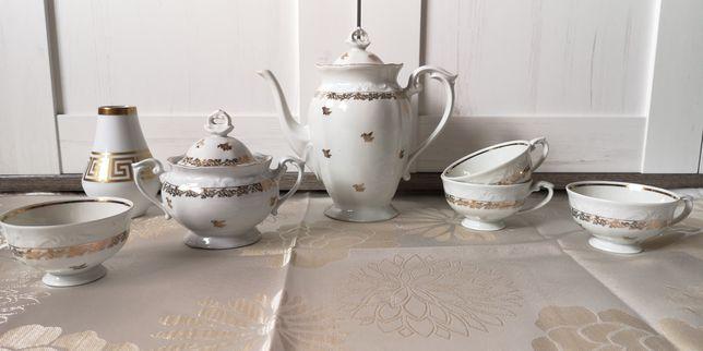 Zestaw herbaciany - porcelana - Chodzież