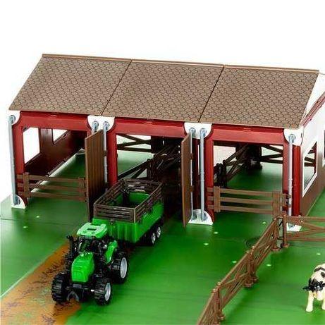 SUPER fajna duża FARMA ze zwierzętami + 2 traktorki - 102 elementy