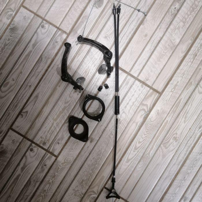 Продам тормоз задний и передний в сборе Haro с гироротором! Вишневое - изображение 1