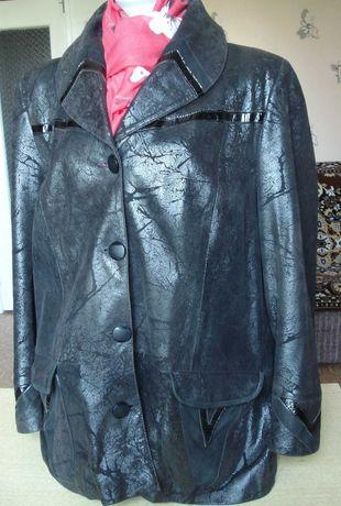 Женская кожаная куртка из натуральной кожи большого размера  56-58