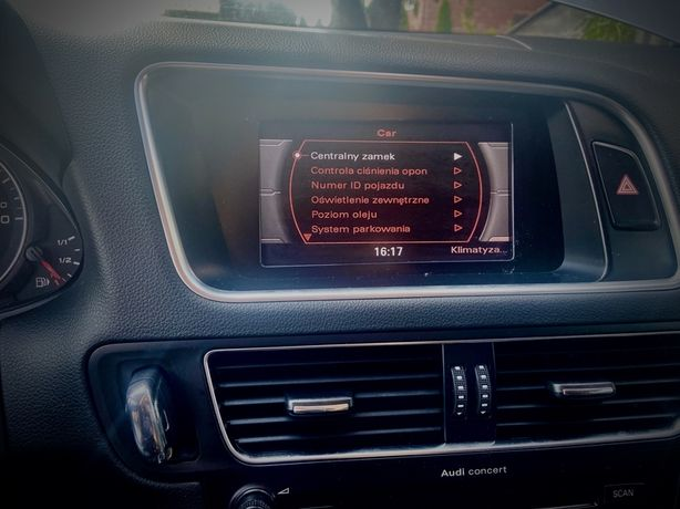 Język polski Audi CONCERT pl menu