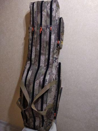 Чехол кофр для рыбалки удилищ с катушками 135 см цвет КРИПТЕК